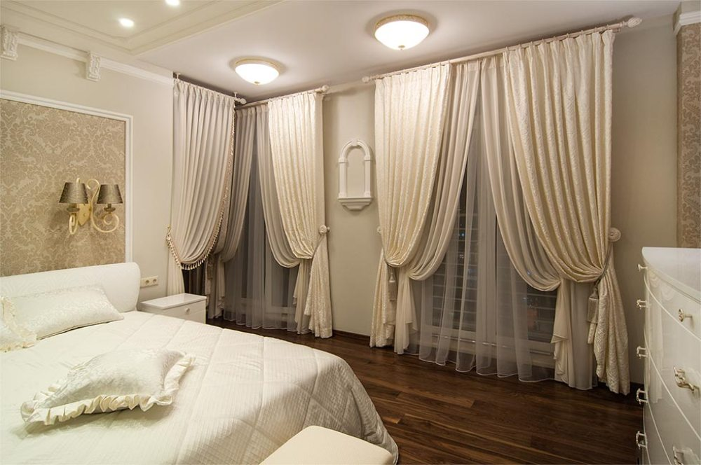 Шторы для спальни новый дизайн